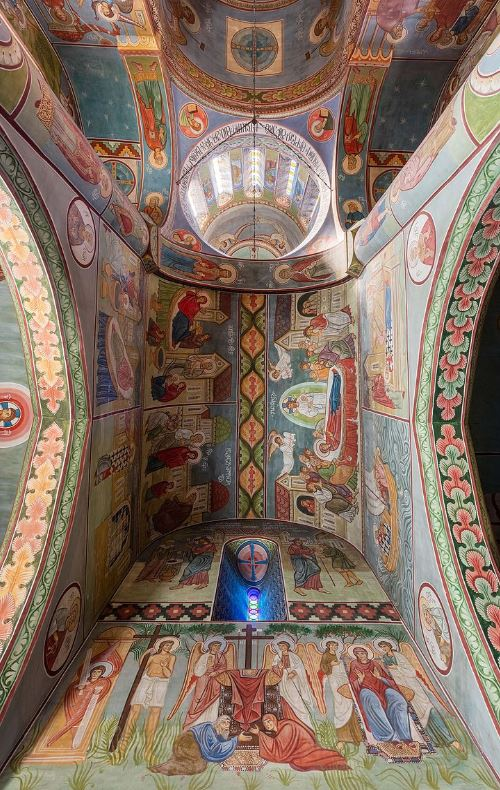 narikala fortress frescoe
